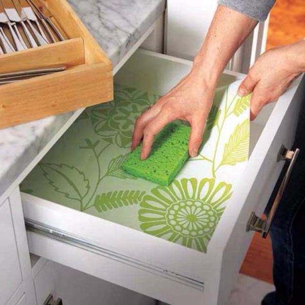 DIY Ideas for Wallpaper Scraps - Line Drawers - Cute Projects and Easy DIY Gift Ideas to Make With Leftover Wall Paper - Fun Home Decor, Homemade Wall Art Idea Tutorials, Creative Ways to Use Old Wallpapers - Cool Crafts for Men, Women and Teens http://diyjoy.com/diy-ideas-wallpaper-scraps