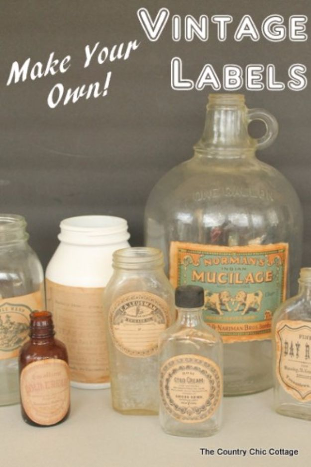 50 best free printables for craft projects for How to print your own labels at home