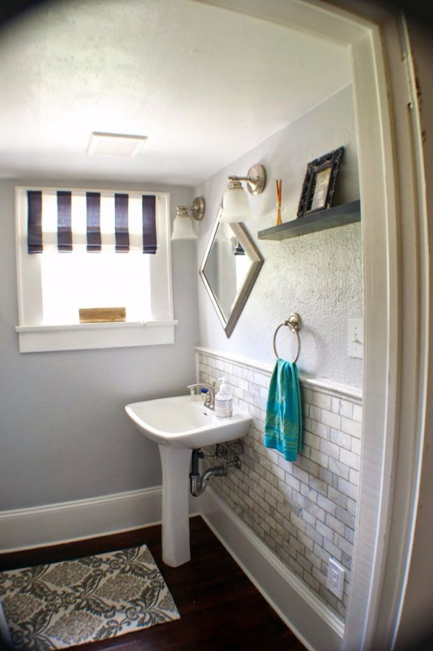 DIY Tile Ideas - Marble Subway Tile - Creative Crafts for Bathroom, Kitchen, Living Room, and Fireplace - Awesome Shower and Bathtub Ideas - Fun and Easy Home Decor Projects - How To Make Rustic Entryway Art http://diyjoy.com/diy-tile-ideas