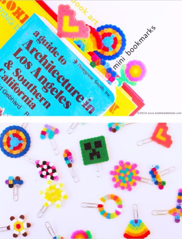 DIY Ideas With Beads - Mini Bookmarks - Cool Crafts and Do It Yourself Ideas Made With Beads - Outdoor Windchimes, Indoor Wall Art, Cute and Easy DIY Gifts - Fun Projects for Kids, Adults and Teens - Bead Project Tutorials With Step by Step Instructions - Best Crafts To Make and Sell on Etsy
