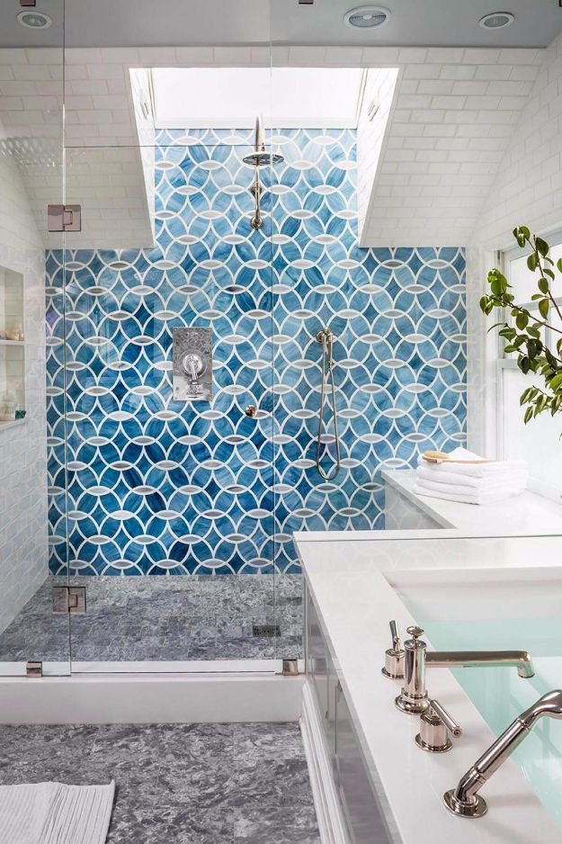 DIY Tile Ideas - Modern Nautilus Abstract Turquoise Design - Creative Crafts for Bathroom, Kitchen, Living Room, and Fireplace - Awesome Shower and Bathtub Ideas - Fun and Easy Home Decor Projects - How To Make Rustic Entryway Art #homeimprovement #diy