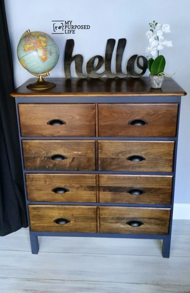 DIY Dressers - Modified Dresser - Simple DIY Dresser Ideas - Easy Dresser Upgrades and Makeovers to Create Cool Bedroom Decor On A Budget- Do It Yourself Tutorials and Instructions for Decorating Cheap Furniture - Crafts for Women, Men and Teens http://diyjoy.com/diy-dresser-ideas