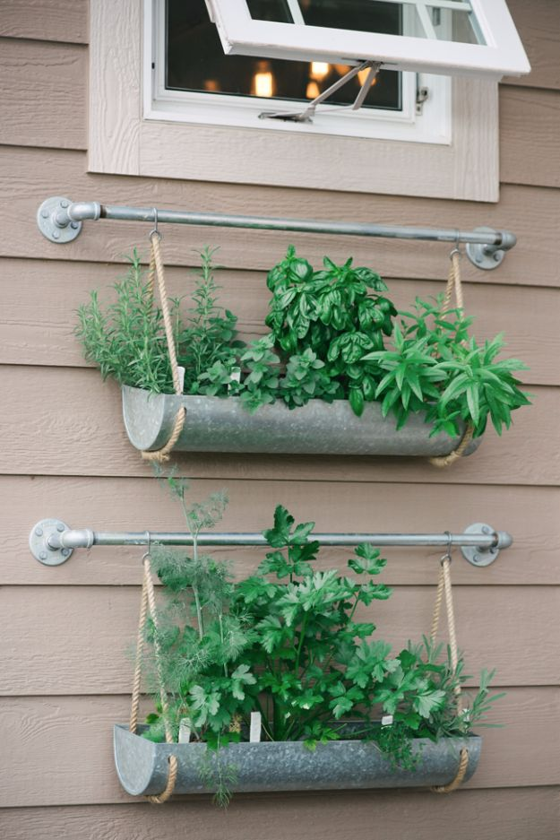 DIY Outdoor Planters - Outdoor Herb Garden - Easy Planter Ideas to Make for The Porch, Pation and Backyard - Your Plants Will Love These DIY Plant Holders, Potting Ideas and Planter Boxes - Gardening DIY for Big and Small Plants Outdoors - Concrete, Wood, Cheap, Simple, Modern and Rustic Projects With Step by Step Instructions http://diyjoy.com/diy-oudoor-planters