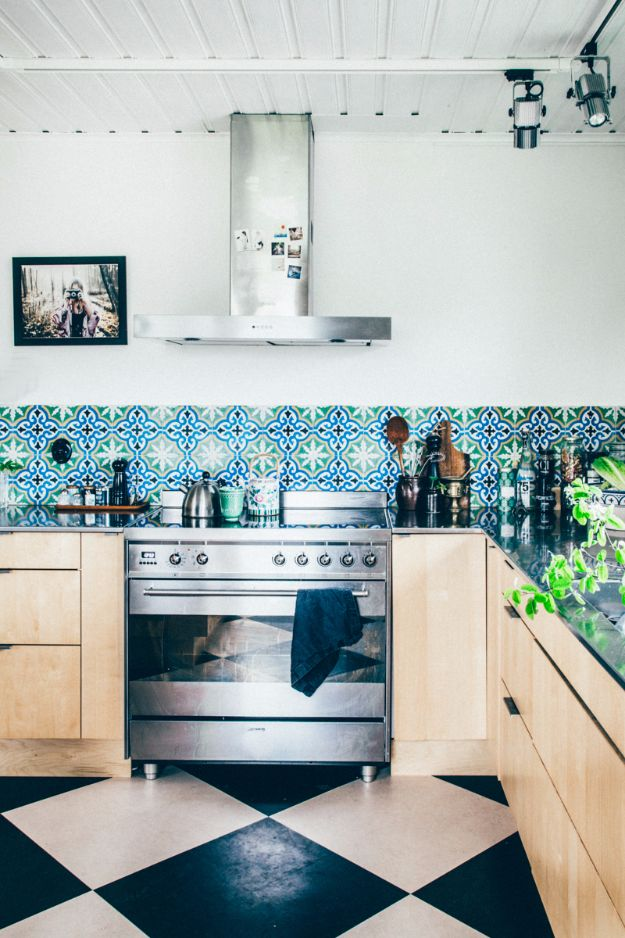 DIY Tile Ideas - Patterned Cement Tile - Creative Crafts for Bathroom, Kitchen, Living Room, and Fireplace - Awesome Shower and Bathtub Ideas - Fun and Easy Home Decor Projects - How To Make Rustic Entryway Art http://diyjoy.com/diy-tile-ideas