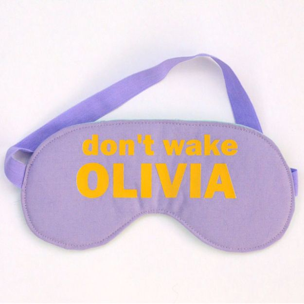DIY Sleep Masks - Sassy Sleep Mask - Cute and Easy Ideas for Making a Homemade Sleep Mask - Best DIY Gift Ideas for Her - Cool Crafts To Make and Sell On Etsy - Creative Presents for Girls, Women and Teens - Do It Yourself Sleeping With Words, Accents and Fun Accessories for Relaxing   #diy #diygifts