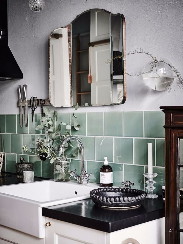 DIY Tile Ideas - Simple Glass Tiles - Creative Crafts for Bathroom, Kitchen, Living Room, and Fireplace - Awesome Shower and Bathtub Ideas - Fun and Easy Home Decor Projects - How To Make Rustic Entryway Art http://diyjoy.com/diy-tile-ideas