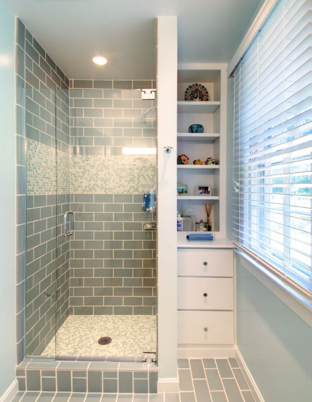 DIY Tile Ideas - Simply Sea Foam Tile Scheme - Creative Crafts for Bathroom, Kitchen, Living Room, and Fireplace - Awesome Shower and Bathtub Ideas - Fun and Easy Home Decor Projects - How To Make Rustic Entryway Art http://diyjoy.com/diy-tile-ideas