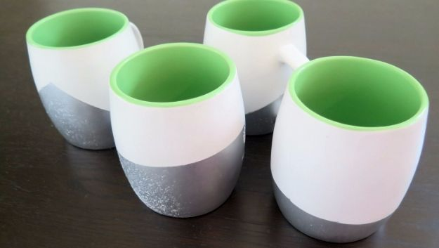 DIY Coffee Mugs - Spray Painted Coffee Mugs - Easy Coffee Mug Ideas for Homemade Gifts and Crafts - Decorate Your Coffee Cups and Tumblers With These Cool Art Ideas - Glitter, Paint, Sharpie Craft, Nail Polish Water Marble and Teen Projects http://diyjoy.com/diy-coffee-mugs