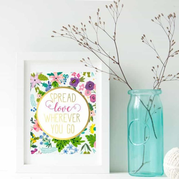 Best Free Printables for Crafts - Spread Love Printable Art - Quotes, Templates, Paper Projects and Cards, DIY Gifts Cards, Stickers and Wall Art You Can Print At Home - Use These Fun Do It Yourself Template and Craft Ideas for Your Next Craft Projects - Cute Arts and Crafts Ideas for Kids and Adults to Make on Printer / Printable http://diyjoy.com/best-free-printables-crafts