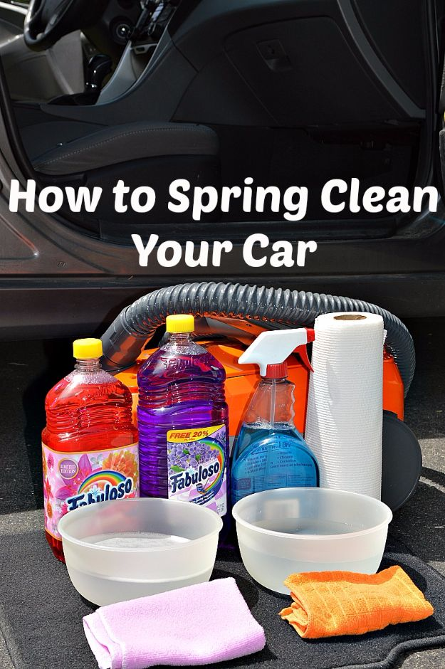Best Spring Cleaning Ideas - Spring Clean Your Car - Easy Cleaning Tips For Home - DIY Cleaning Hacks and Product Recipes - Tips and Tricks for Cleaning the Bathroom, Kitchen, Floors and Countertops - Cheap Solutions for A Clean House #springcleaning