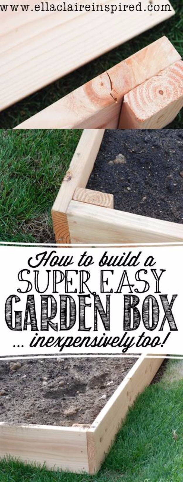 DIY Garden Beds - Super Easy Garden Box - Easy Gardening Ideas for Raised Beds and Planter Boxes - Free Plans, Tutorials and Step by Step Tutorials for Building and Landscaping Projects - Update Your Backyard and Gardens With These Cheap Do It Yourself Ideas http://diyjoy.com/diy-garden-beds