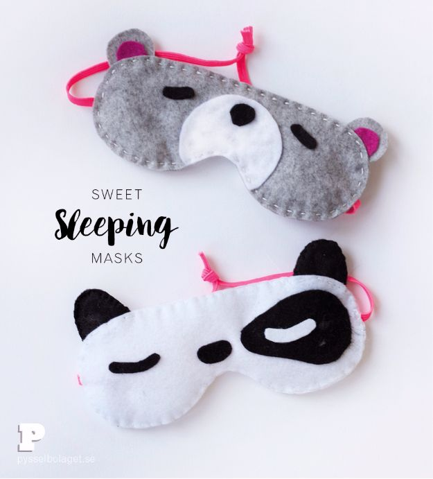 DIY Sleep Masks - Sweet Sleeping Masks - Cute and Easy Ideas for Making a Homemade Sleep Mask - Best DIY Gift Ideas for Her - Cool Crafts To Make and Sell On Etsy - Creative Presents for Girls, Women and Teens - Do It Yourself Sleeping With Words, Accents and Fun Accessories for Relaxing   #diy #diygifts