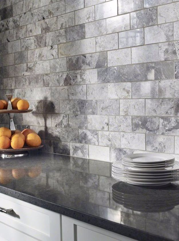 DIY Tile Ideas - Tundra Gray Subway Tile - Creative Crafts for Bathroom, Kitchen, Living Room, and Fireplace - Awesome Shower and Bathtub Ideas - Fun and Easy Home Decor Projects - How To Make Rustic Entryway Art http://diyjoy.com/diy-tile-ideas