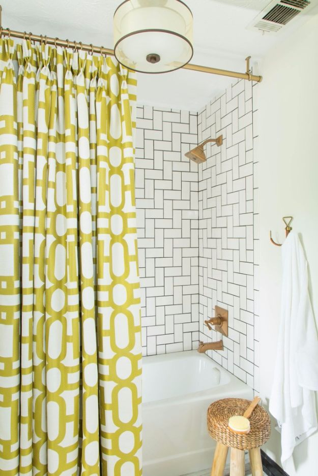 DIY Tile Ideas - Uptown Savvy Retro Style Studio Tiling - Creative Crafts for Bathroom, Kitchen, Living Room, and Fireplace - Awesome Shower and Bathtub Ideas - Fun and Easy Home Decor Projects - How To Make Rustic Entryway Art http://diyjoy.com/diy-tile-ideas