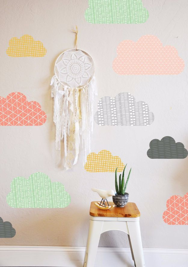 DIY Ideas for Wallpaper Scraps - Wall Decal Designs with an Edge - Cute Projects and Easy DIY Gift Ideas to Make With Leftover Wall Paper - Fun Home Decor, Homemade Wall Art Idea Tutorials, Creative Ways to Use Old Wallpapers - Cool Crafts for Men, Women and Teens http://diyjoy.com/diy-ideas-wallpaper-scraps