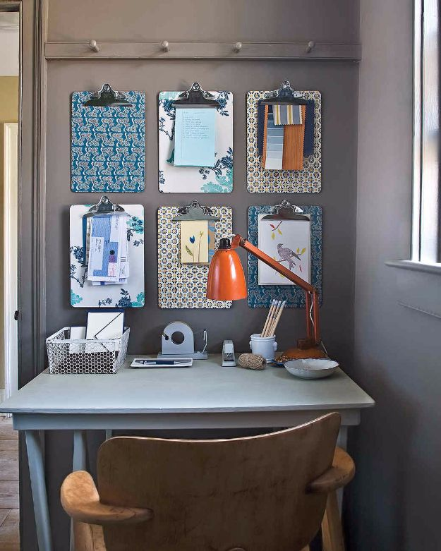 DIY Ideas for Wallpaper Scraps - Wallpaper Clipboard - Cute Projects and Easy DIY Gift Ideas to Make With Leftover Wall Paper - Fun Home Decor, Homemade Wall Art Idea Tutorials, Creative Ways to Use Old Wallpapers - Cool Crafts for Men, Women and Teens http://diyjoy.com/diy-ideas-wallpaper-scraps