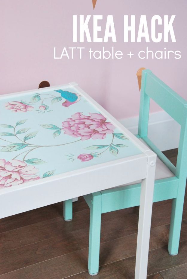 DIY Ideas for Wallpaper Scraps - Wallpaper Kid's Table - Cute Projects and Easy DIY Gift Ideas to Make With Leftover Wall Paper - Fun Home Decor, Homemade Wall Art Idea Tutorials, Creative Ways to Use Old Wallpapers - Cool Crafts for Men, Women and Teens http://diyjoy.com/diy-ideas-wallpaper-scraps