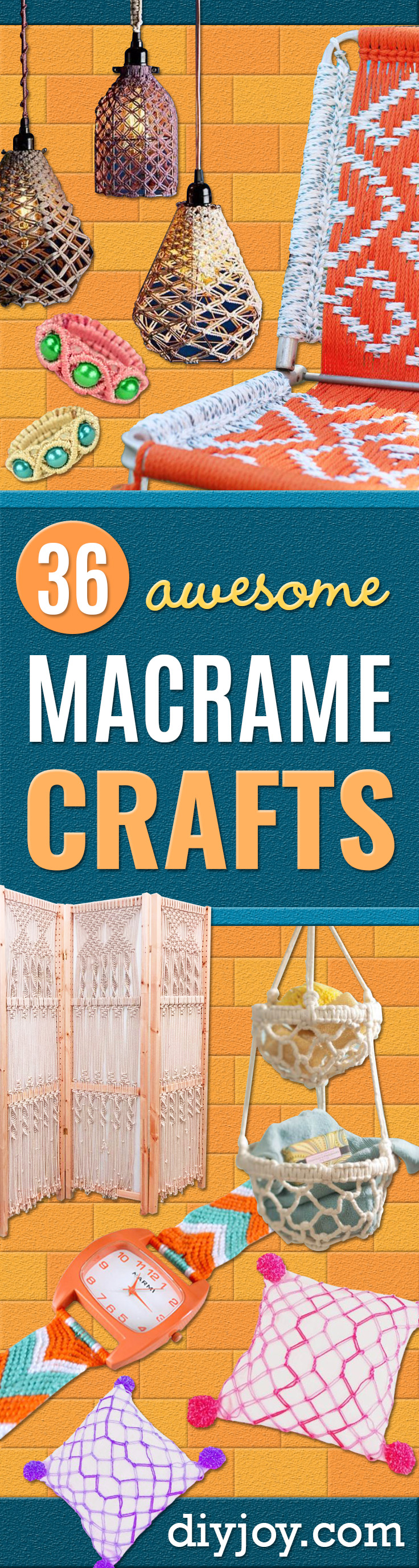 Macrame Crafts - DIY Ideas and Easy Macrame Projects for Home Decor, Gifts and Wall Art - Cool Bracelets, Plant Holders, Beautiful Dream Catchers, Things To Make and Sell on Etsy, How To Make Knots for Your Macrame Craft Projects, Fun Ideas Even Kids and Teens Can Make #macrame #diy #crafts