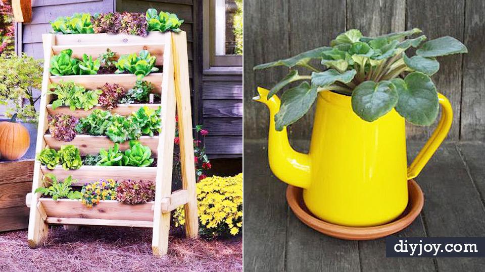 Container Gardening Ideas Vintage Bucket Gardening Easy Garden