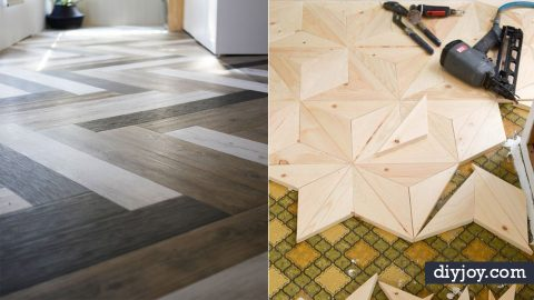 34 DIY Flooring Projects That Could Transform The Home | DIY Joy Projects and Crafts Ideas
