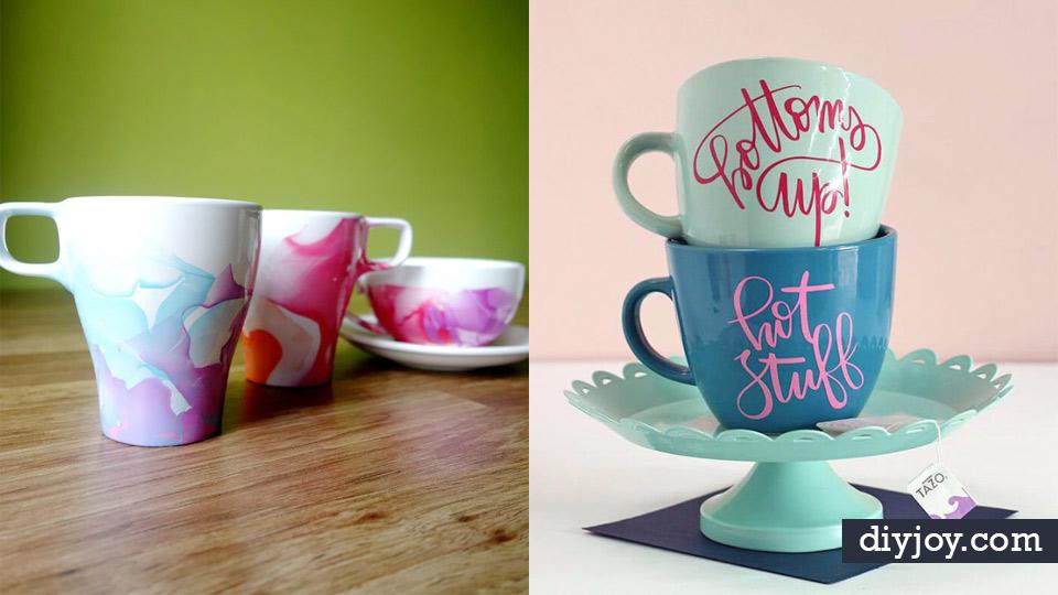 DIY Coffee Mugs - Easy Coffee Mug Ideas for Homemade Gifts and ...