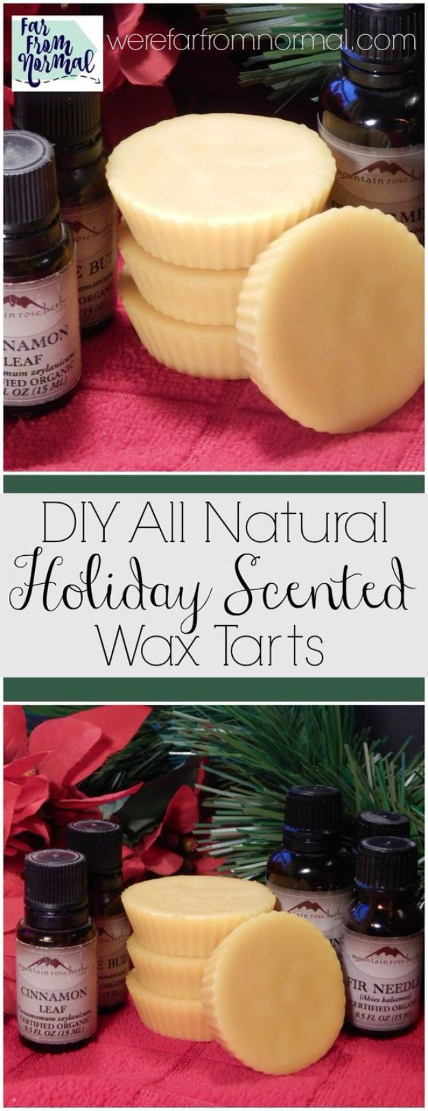 DIY Home Fragrance Ideas - All Natural Christmas Scented Wax Tarts - Easy Ways To Make your House and Home Smell Good - Essential Oils, Diffusers, DIY Lampe Berger Oil, Candles, Room Scents and Homemade Recipes for Odor Removal - Relaxing Lavender, Fresh Clean Smells, Lemon, Herb http://diyjoy.com/diy-home-fragrance-ideas