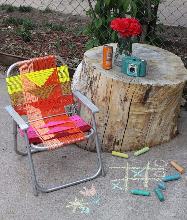 Macrame Crafts - Aluminum Chair Makeover - DIY Ideas and Easy Macrame Projects for Home Decor, Gifts and Wall Art - Cool Bracelets, Plant Holders, Beautiful Dream Catchers, Things To Make and Sell on Etsy, How To Make Knots for Your Macrame Craft Projects, Fun Ideas Even Kids and Teens Can Make #macrame #crafts #diyideas