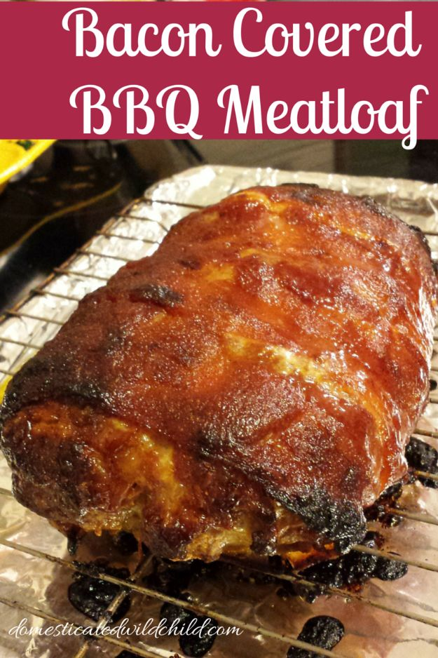 Best Barbecue Recipes - Bacon Covered BBQ Meatloaf - Easy BBQ Recipe Ideas for Lunch, Dinner and Quick Party Appetizers - Grilled and Smoked Foods, Chicken, Beef and Meat, Fish and Vegetable Ideas for Grilling - Sauces and Rubs, Seasonings and Favorite Bar BBQ Tips #bbq #bbqrecipes #grilling