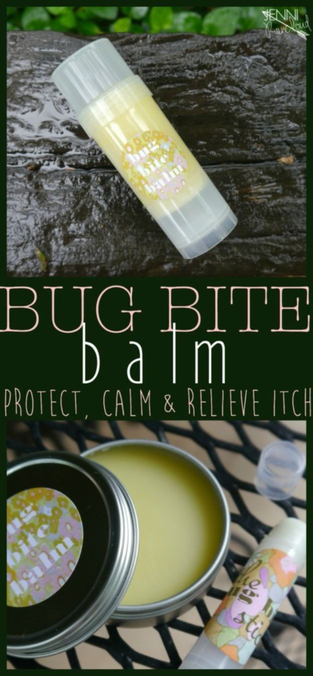 DIY Home Remedies - Bug Bite Balm - Homemade Recipes and Ideas for Help Relieve Symptoms of Cold and Flu, Upset Stomach, Rash, Cough, Sore Throat, Headache and Illness - Skincare Products, Balms, Lotions and Teas