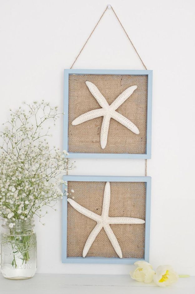 DIY Burlap Ideas - Burlap Nautical Wall Decor - Burlap Furniture, Home Decor and Crafts - Banners and Buntings, Wall Art, Ottoman from Coffee Sacks, Wreath, Centerpieces and Table Runner - Kitchen, Bedroom, Living Room, Bathroom Ideas - Shabby Chic Craft Projects and DIY Wedding Decor http://diyjoy.com/diy-burlap-decor-ideas
