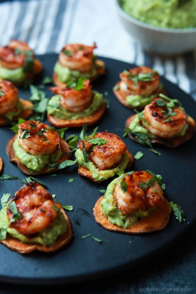Best Dinner Party Ideas - Cajun Shrimp Guacamole Bites - Best Recipes for Foods to Serve, Casseroles, Finger Foods, Desserts and Appetizers- Place Settings and Cards, Centerpieces, Table Decor and Recipe Ideas for Supper Clubs and Dinner Parties http://diyjoy.com/best-dinner-party-ideas