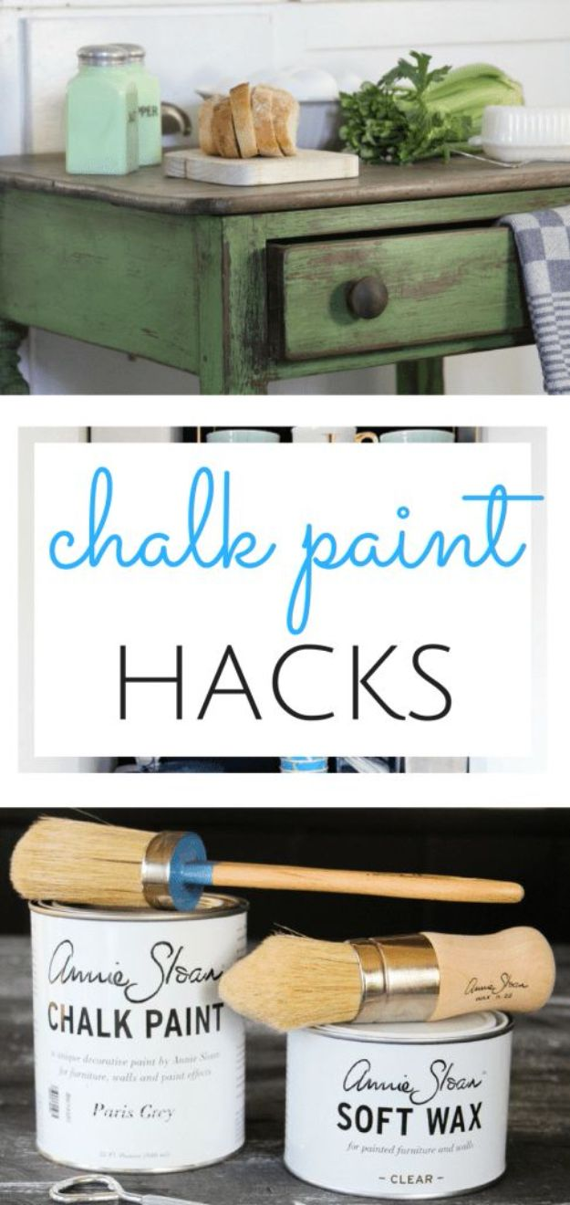 DIY Painting Hacks - Chalk Paint Hack - Easy Ways To Shortcut House Painting - Wall Prep, Painters Tape, Trim, Edging, Ceiling, Exterior Cutting In, Furniture and Crafts Paint Tips - Paint Your House Or Your Room With These Time Saving Painter Hacks and Quick Tricks http://diyjoy.com/diy-painting-hacks