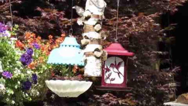 DIY Bird Feeders - Charming Upcycled Bird Feeder - Easy Do It Yourself Homemade Bird Feeder Ideas from Mason Jar, Wooden, Wine Bottle, Milk Jug, Plastic, Dollar Store Supplies - Squirrel Proof, Unique and Creative Tutorials That Make Cool DIY Gifts #diyideas #birds