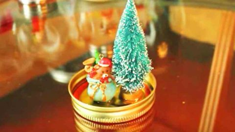 She Glues A Small Tree And Ornament to A Mason Jar Lid And Watch What She Does Next! | DIY Joy Projects and Crafts Ideas