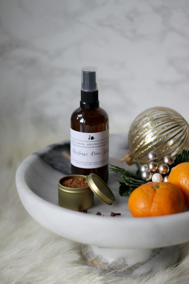 DIY Home Fragrance Ideas - Cinnamon, Orange and Clove Essential Oil Natural Room Spray - Easy Ways To Make your House and Home Smell Good - Essential Oils, Diffusers, DIY Lampe Berger Oil, Candles, Room Scents and Homemade Recipes for Odor Removal - Relaxing Lavender, Fresh Clean Smells, Lemon, Herb http://diyjoy.com/diy-home-fragrance-ideas