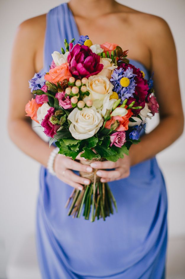 DIY Flowers for Weddings - Colorful And Vibrant Bouquet - Centerpieces, Bouquets, Arrangements for Wedding Ceremony - Aisle Ideas, Rustic Bouquet Projects - Paper, Cheap, Fake Floral, Silk Flower Centerpiece To Make For Brides on A Budget - Decor for Spring, Summer, Winter and Fall http://diyjoy.com/diy-flowers-for-weddings