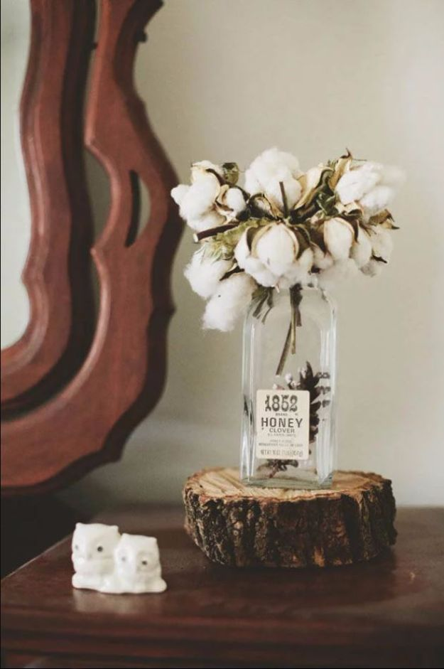DIY Flowers for Weddings - Cotton Wedding Centerpiece - Centerpieces, Bouquets, Arrangements for Wedding Ceremony - Aisle Ideas, Rustic Bouquet Projects - Paper, Cheap, Fake Floral, Silk Flower Centerpiece To Make For Brides on A Budget - Decor for Spring, Summer, Winter and Fall http://diyjoy.com/diy-flowers-for-weddings