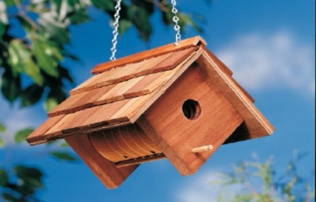 DIY Bird Houses - Cute DIY Birdhouse - Easy Bird House Ideas for Kids and Adult To Make - Free Plans and Tutorials for Wooden, Simple, Upcyle Designs, Recycle Plastic and Creative Ways To Make Rustic Outdoor Decor and a Home for the Birds - Fun Projects for Your Backyard This Summer
