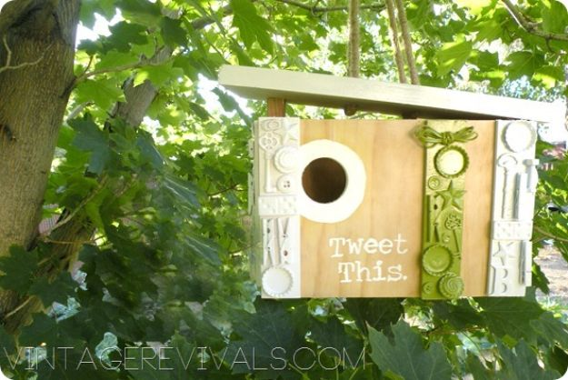 DIY Bird Houses - Cute Modern Birdhouse - Easy Bird House Ideas for Kids and Adult To Make - Free Plans and Tutorials for Wooden, Simple, Upcyle Designs, Recycle Plastic and Creative Ways To Make Rustic Outdoor Decor and a Home for the Birds - Fun Projects for Your Backyard This Summer http://diyjoy.com/diy-bird-houses