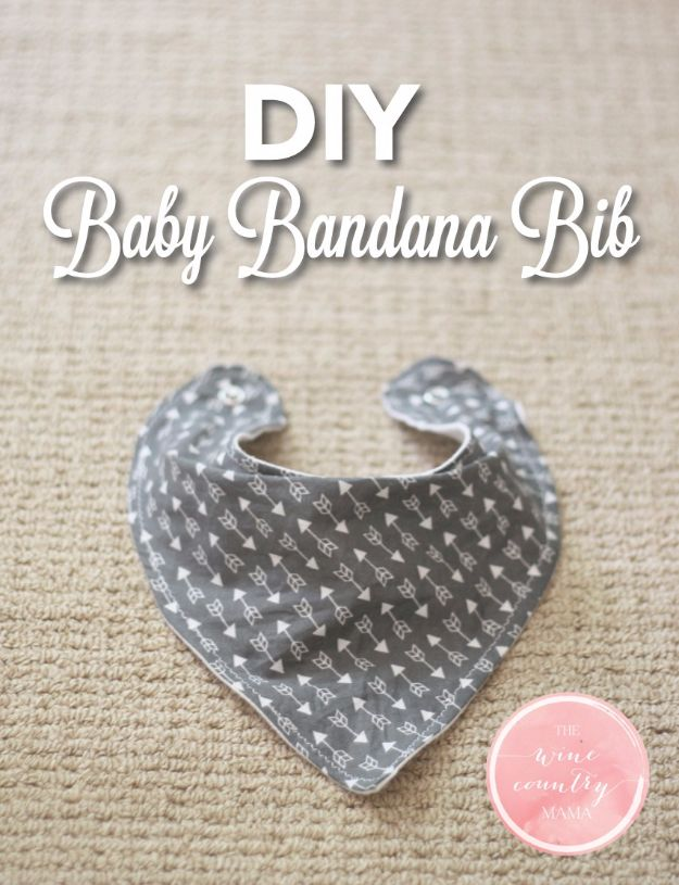 DIY Ideas With Bandanas - DIY Baby Bandana Bib - Bandana Crafts and Decor Projects Made With A Bandana - No Sew Ideas, Bags, Bracelets, Hats, Halter Tops, Blankets and Quilts, Headbands, Simple Craft Project Tutorials for Kids and Teens - Home Decoration and Country Themed Crafts To Make and Sell On Etsy #crafts #country #diy