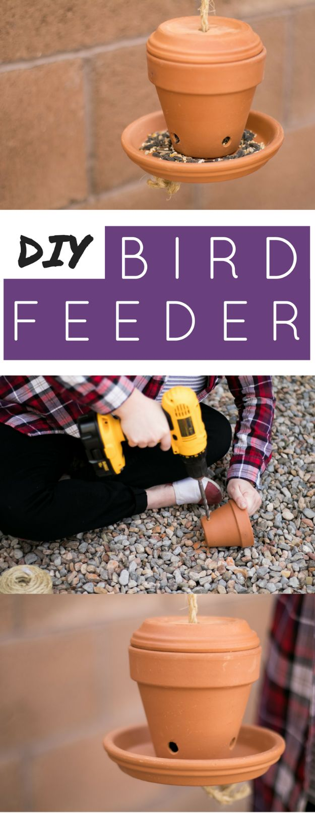 DIY Bird Feeders - DIY Bird Feeder For Songbirds - Easy Do It Yourself Homemade Bird Feeder Ideas from Mason Jar, Wooden, Wine Bottle, Milk Jug, Plastic, Dollar Store Supplies - Squirrel Proof, Unique and Creative Tutorials That Make Cool DIY Gifts #diyideas #birds