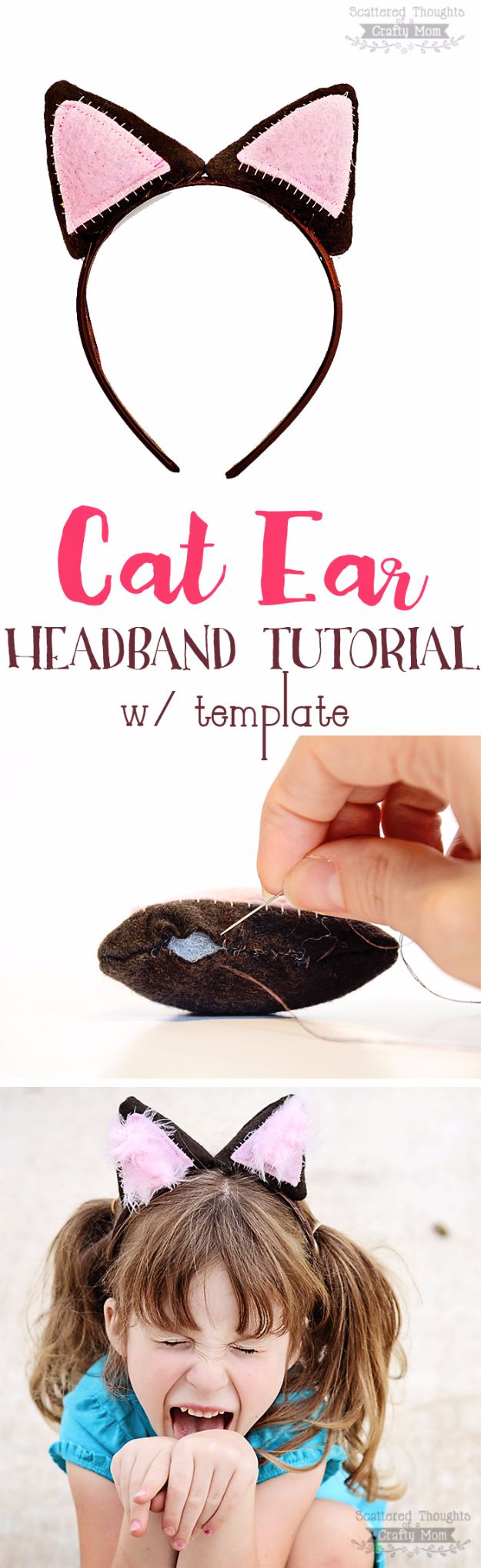 DIY Ideas With Cats - DIY Cat Ear Headband - Cute and Easy DIY Projects for Cat Lovers - Wall and Home Decor Projects, Things To Make and Sell on Etsy - Quick Gifts to Make for Friends Who Have Kittens and Kitties - Homemade No Sew Projects- Fun Jewelry, Cool Clothes, Pillows and Kitty Accessories http://diyjoy.com/diy-ideas-cats