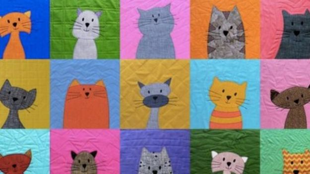 DIY Ideas With Cats - DIY Cat Quilt - Cute and Easy DIY Projects for Cat Lovers - Wall and Home Decor Projects, Things To Make and Sell on Etsy - Quick Gifts to Make for Friends Who Have Kittens and Kitties - Homemade No Sew Projects- Fun Jewelry, Cool Clothes, Pillows and Kitty Accessories http://diyjoy.com/diy-ideas-cats