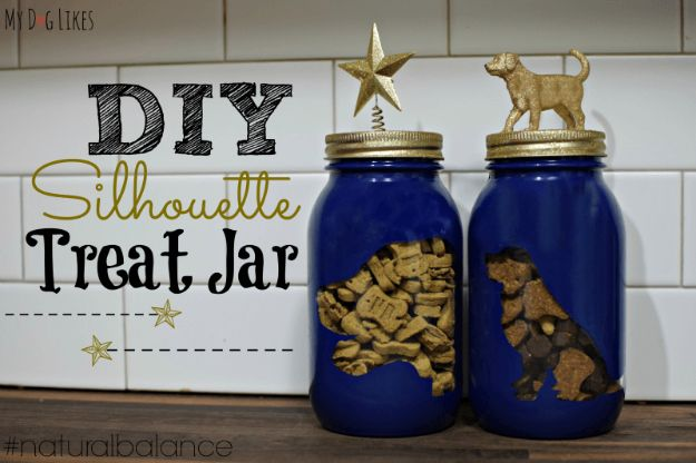 DIY Ideas With Dogs - DIY Dog Treat Jar - Cute and Easy DIY Projects for Dog Lovers - Wall and Home Decor Projects, Things To Make and Sell on Etsy - Quick Gifts to Make for Friends Who Have Puppies and Doggies - Homemade No Sew Projects- Fun Jewelry, Cool Clothes and Accessories #dogs #crafts #diyideas