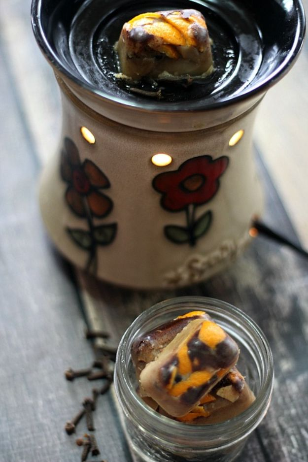 DIY Home Fragrance Ideas - DIY Fall Scented Wax Melts - Easy Ways To Make your House and Home Smell Good - Essential Oils, Diffusers, DIY Lampe Berger Oil, Candles, Room Scents and Homemade Recipes for Odor Removal - Relaxing Lavender, Fresh Clean Smells, Lemon, Herb http://diyjoy.com/diy-home-fragrance-ideas
