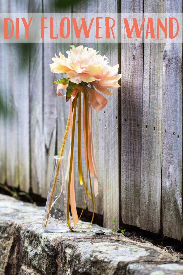 DIY Flowers for Weddings - DIY Flower Wand - Centerpieces, Bouquets, Arrangements for Wedding Ceremony - Aisle Ideas, Rustic Bouquet Projects - Paper, Cheap, Fake Floral, Silk Flower Centerpiece To Make For Brides on A Budget - Decor for Spring, Summer, Winter and Fall http://diyjoy.com/diy-flowers-for-weddings