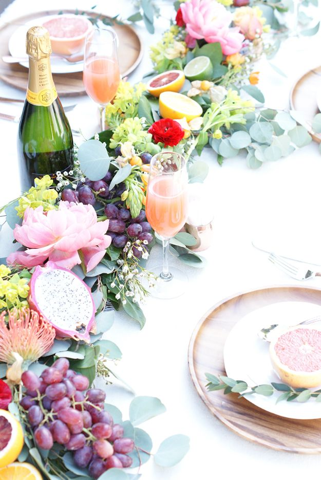 Best Dinner Party Ideas - DIY Fruit Garland Centerpiece - Best Recipes for Foods to Serve, Casseroles, Finger Foods, Desserts and Appetizers- Place Settings and Cards, Centerpieces, Table Decor and Recipe Ideas for Supper Clubs and Dinner Parties http://diyjoy.com/best-dinner-party-ideas
