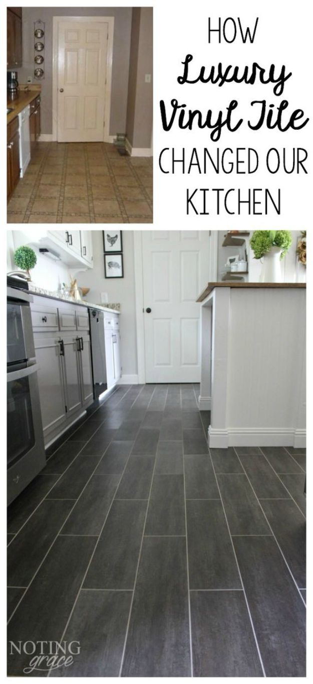 DIY Flooring Projects - DIY Kitchen Flooring - Cheap Floor Ideas for Those On A Budget - Inexpensive Ways To Refinish Floors With Concrete, Laminate, Plywood, Peel and Stick Tile, Wood, Vinyl - Easy Project Plans and Unique Creative Tutorials for Cool Do It Yourself Home Decor #diy #flooring #homeimprovement
