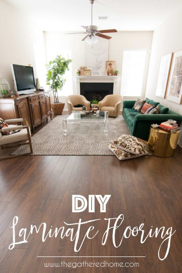 DIY Flooring Projects - DIY Laminate Flooring - Cheap Floor Ideas for Those On A Budget - Inexpensive Ways To Refinish Floors With Concrete, Laminate, Plywood, Peel and Stick Tile, Wood, Vinyl - Easy Project Plans and Unique Creative Tutorials for Cool Do It Yourself Home Decor #diy #flooring #homeimprovement