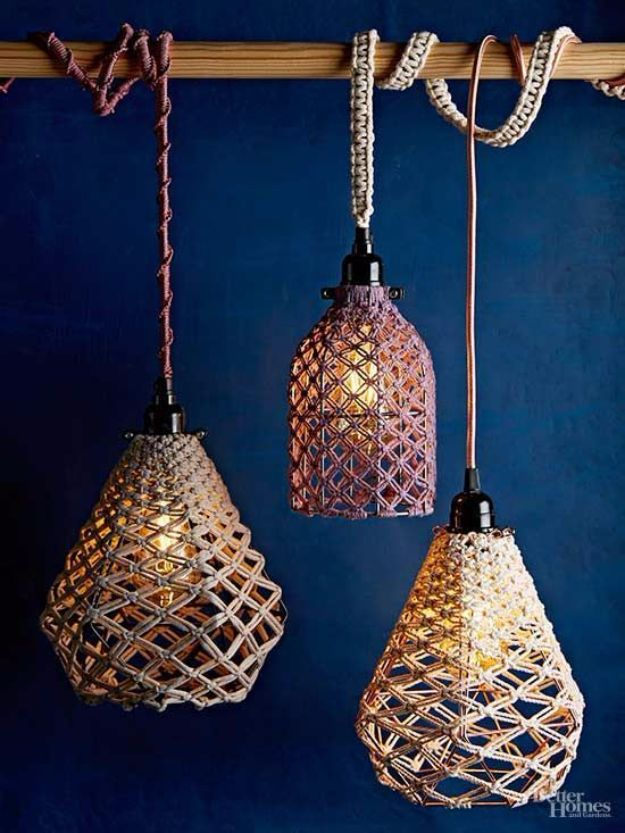 Macrame Crafts - DIY Macrame Pendant - DIY Ideas and Easy Macrame Projects for Home Decor, Gifts and Wall Art - Cool Bracelets, Plant Holders, Beautiful Dream Catchers, Things To Make and Sell on Etsy, How To Make Knots for Your Macrame Craft Projects, Fun Ideas Even Kids and Teens Can Make #macrame #crafts #diyideas
